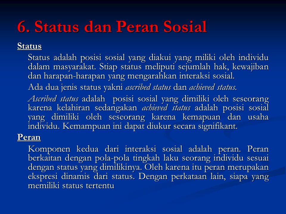 6. Status dan Peran Sosial