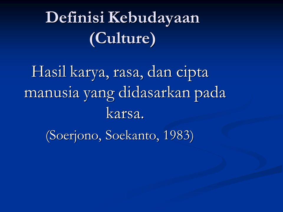 Definisi Kebudayaan (Culture)
