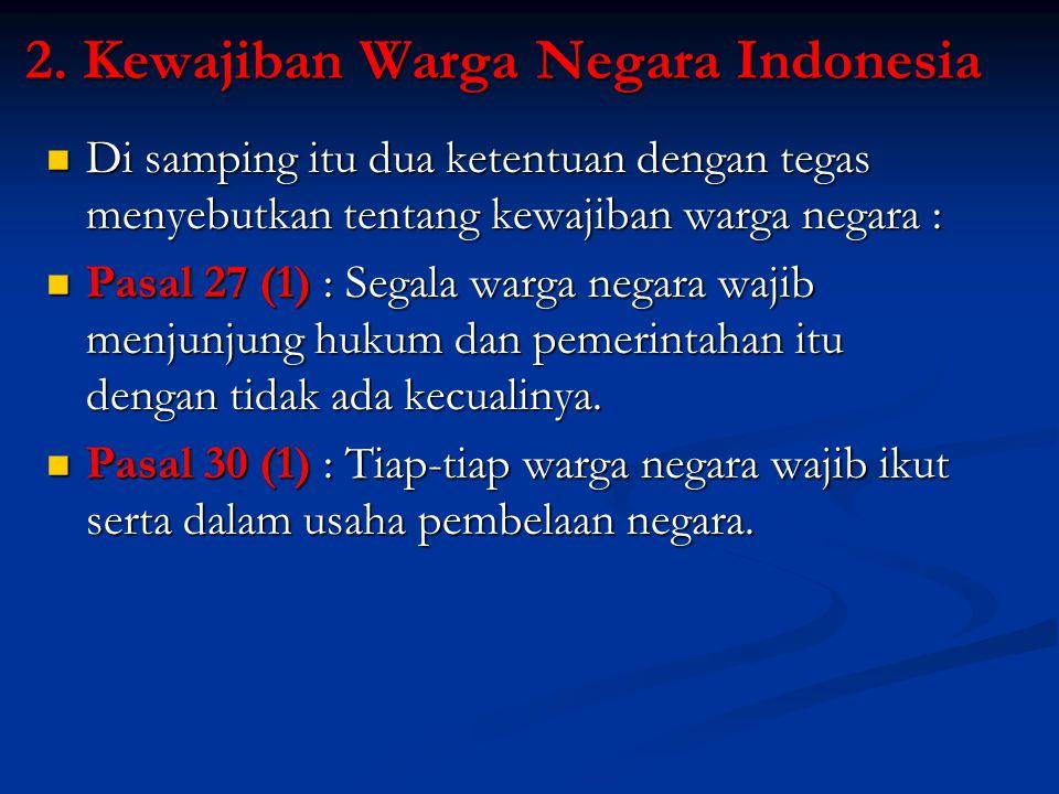 2. Kewajiban Warga Negara Indonesia