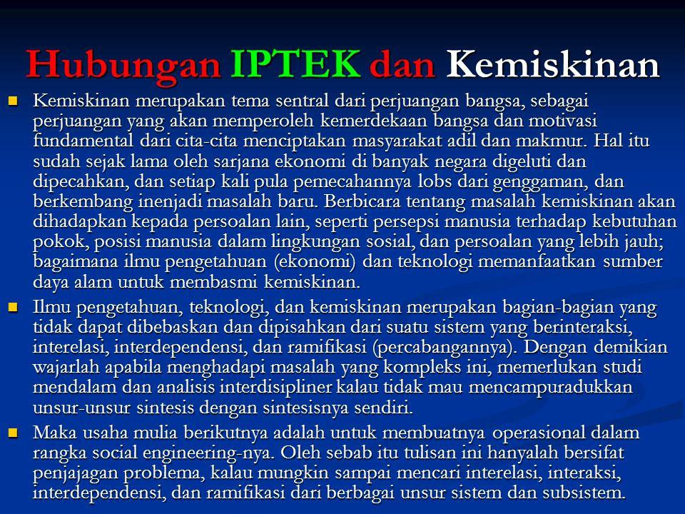 Hubungan IPTEK dan Kemiskinan