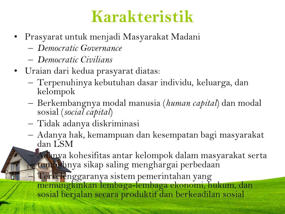 Karakteristik Prasyarat untuk menjadi Masyarakat Madani