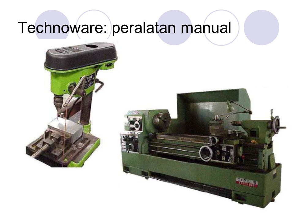 Technoware: peralatan manual