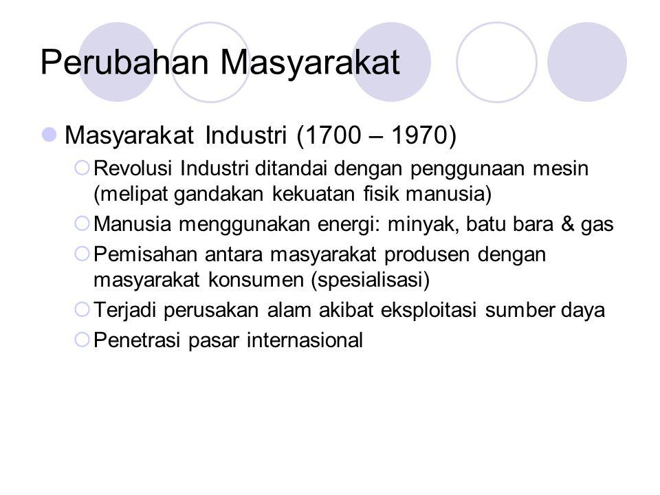 Perubahan Masyarakat Masyarakat Industri (1700 – 1970)