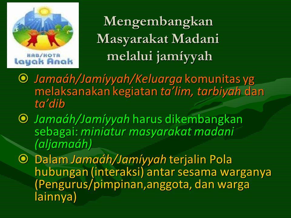 Mengembangkan Masyarakat Madani melalui jamíyyah