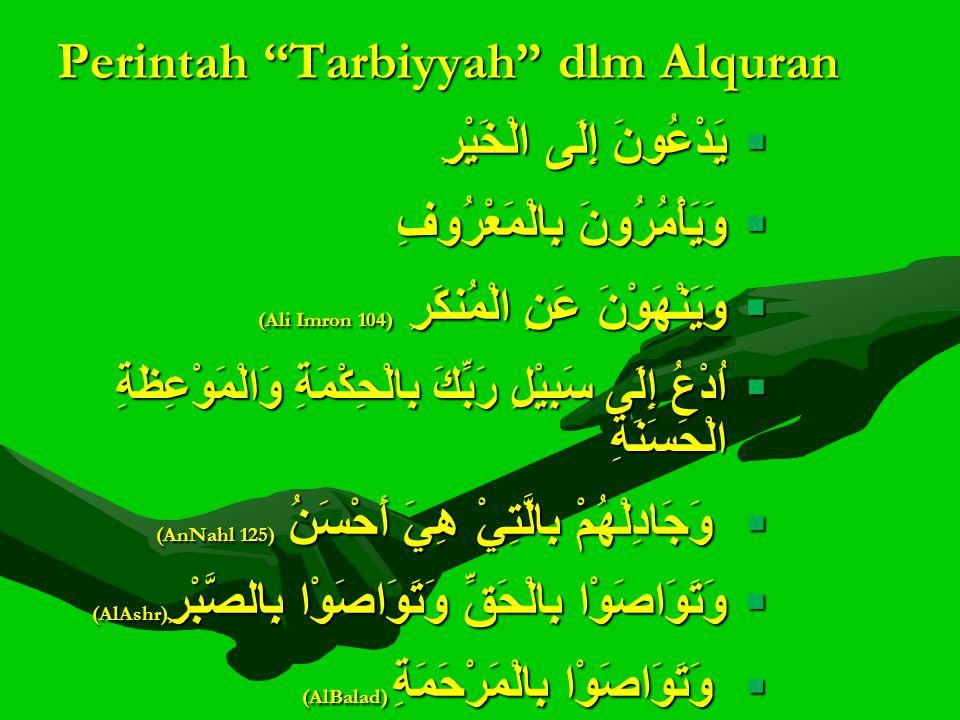 Perintah Tarbiyyah dlm Alquran