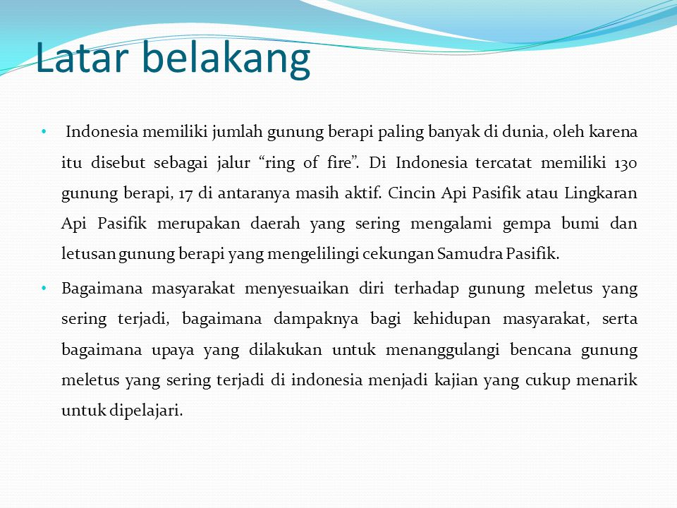BENCANA ALAM GUNUNG MELETUS  ppt download