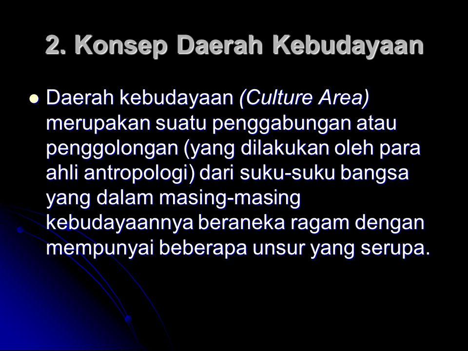 2. Konsep Daerah Kebudayaan