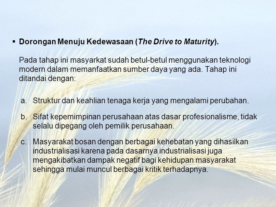 Dorongan Menuju Kedewasaan (The Drive to Maturity)