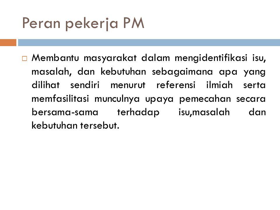 Peran pekerja PM