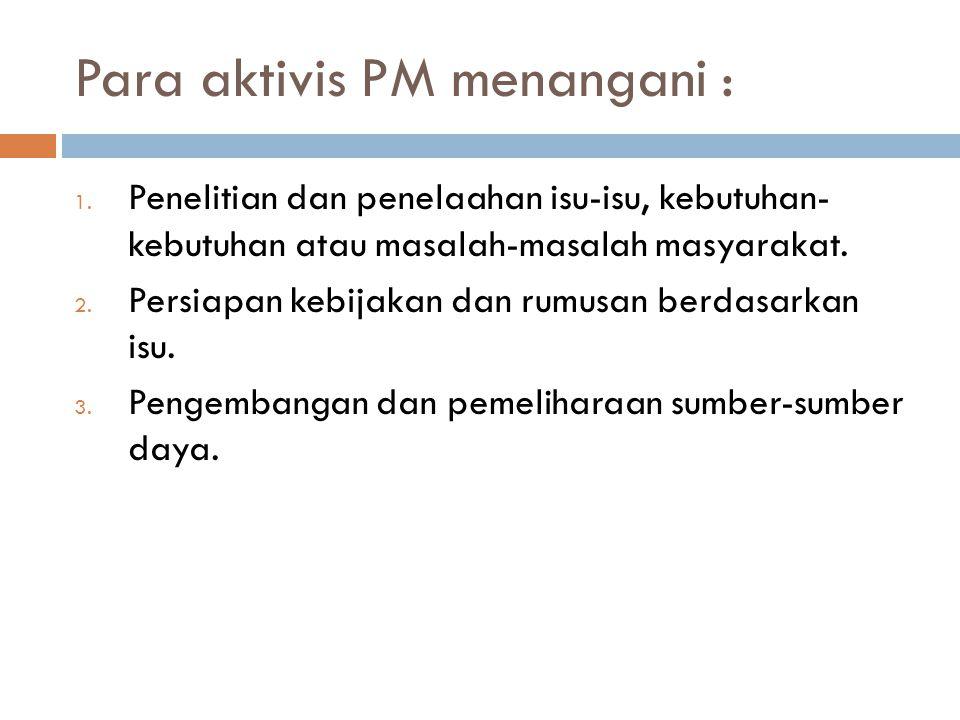 Para aktivis PM menangani :