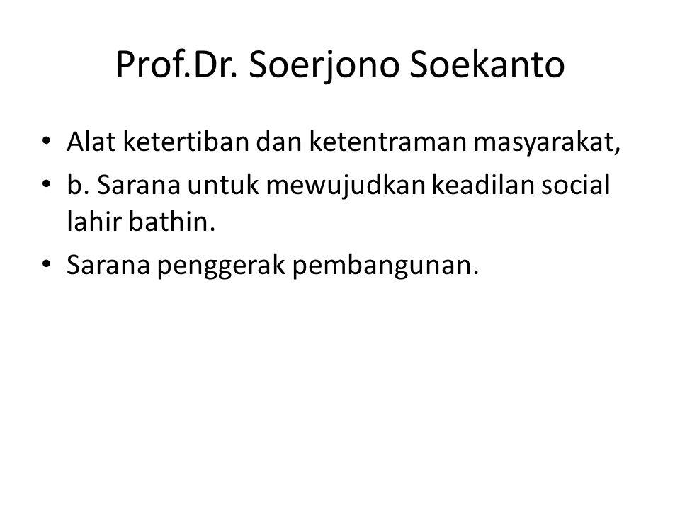 Prof.Dr. Soerjono Soekanto