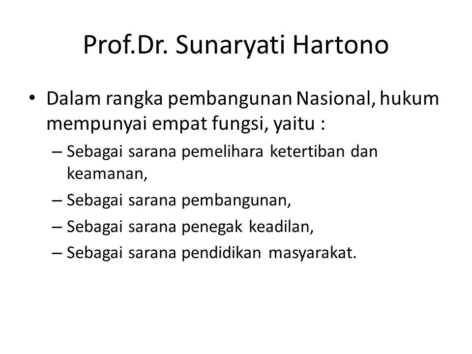 Prof.Dr. Sunaryati Hartono