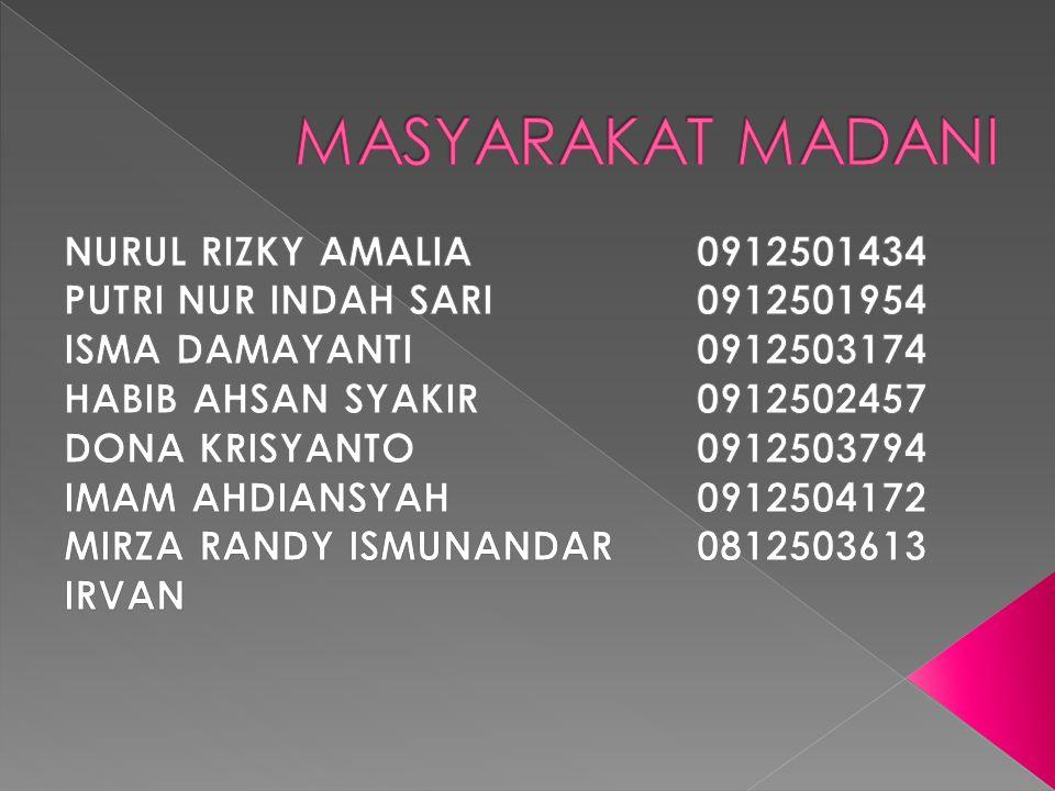 MASYARAKAT MADANI NURUL RIZKY AMALIA 0912501434