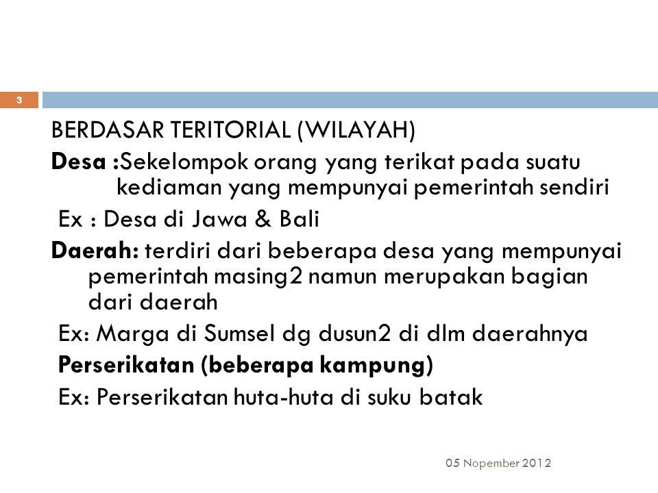 BERDASAR TERITORIAL (WILAYAH)