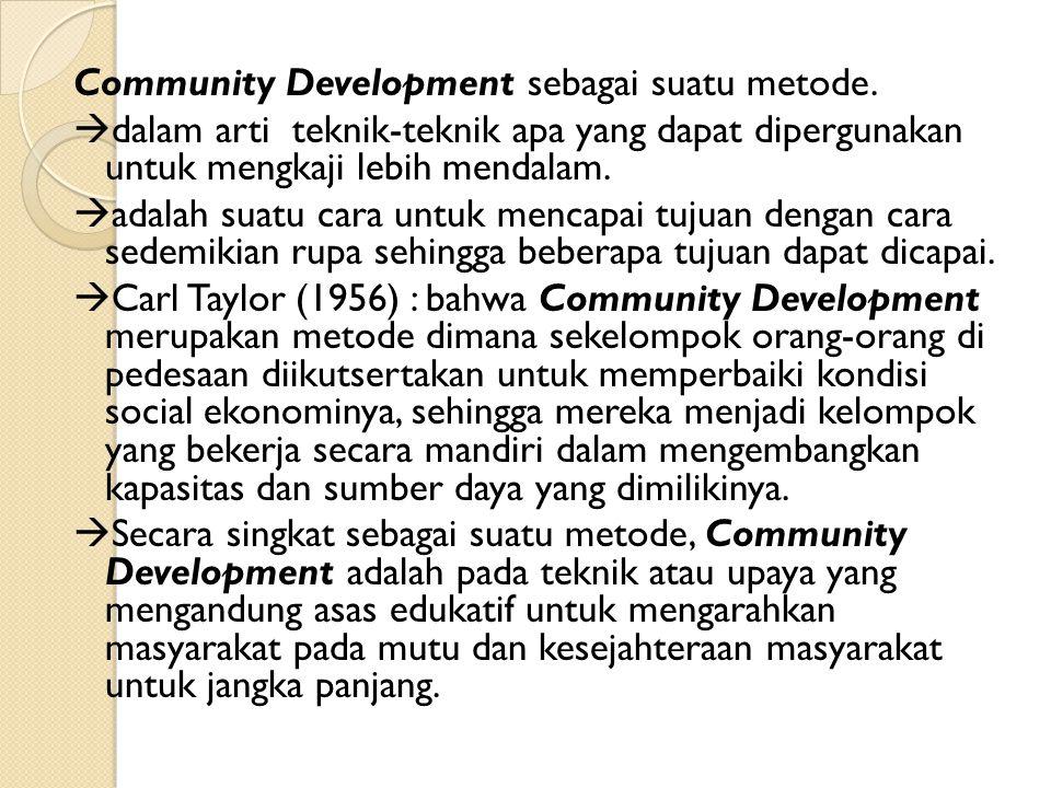 Community Development sebagai suatu metode