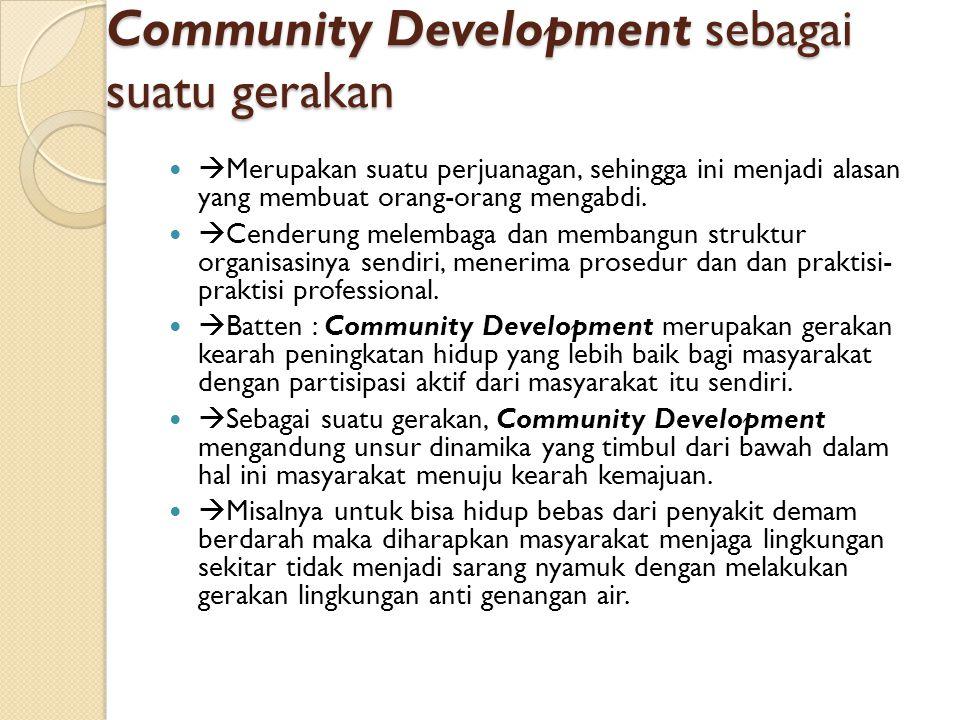 Community Development sebagai suatu gerakan