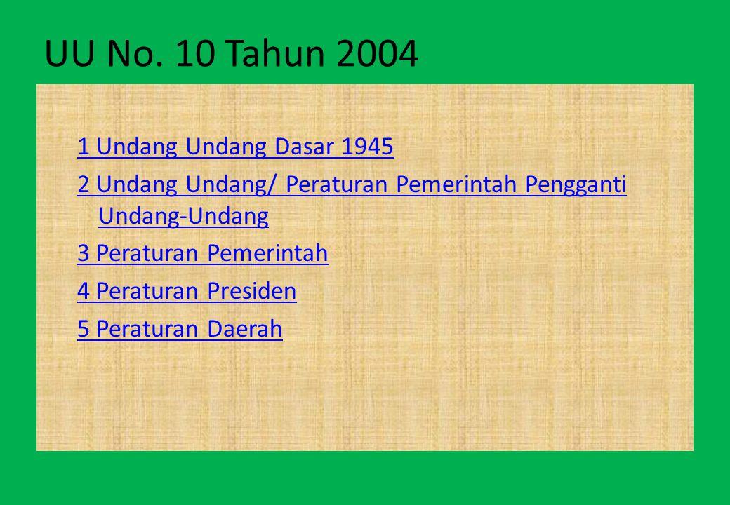 UU No. 10 Tahun 2004