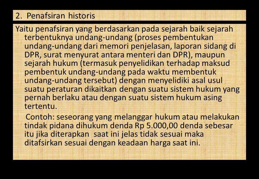 2. Penafsiran historis