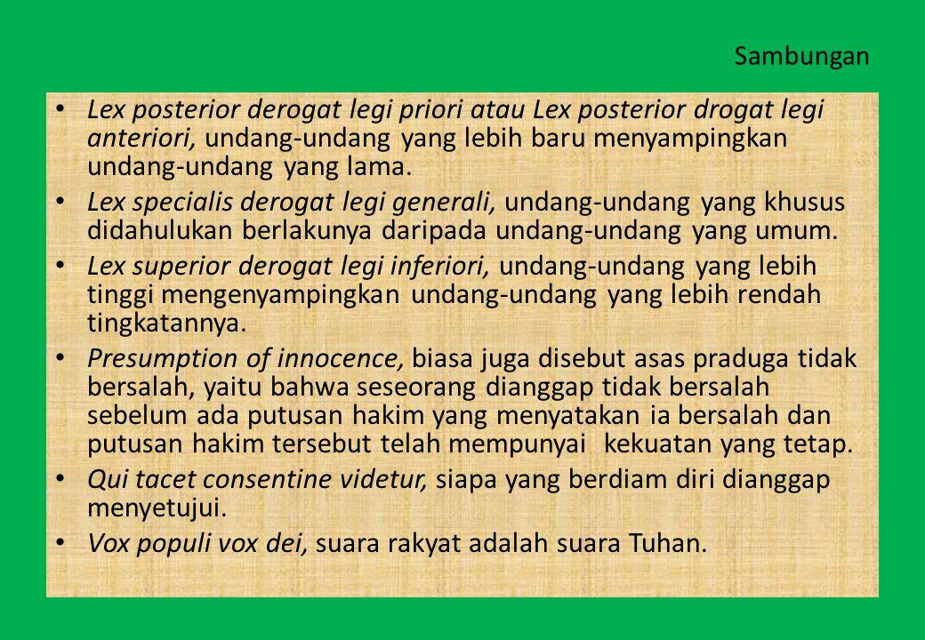 Vox populi vox dei, suara rakyat adalah suara Tuhan.