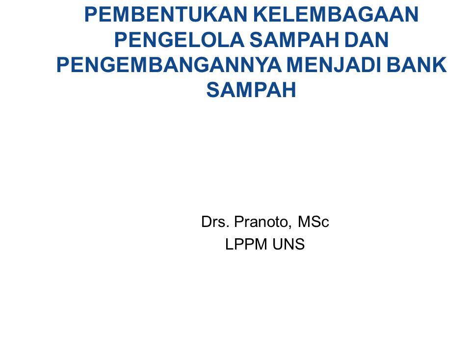 Drs. Pranoto, MSc LPPM UNS