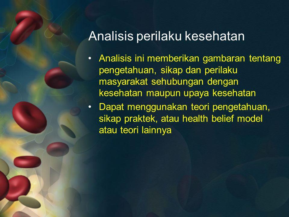 Analisis perilaku kesehatan