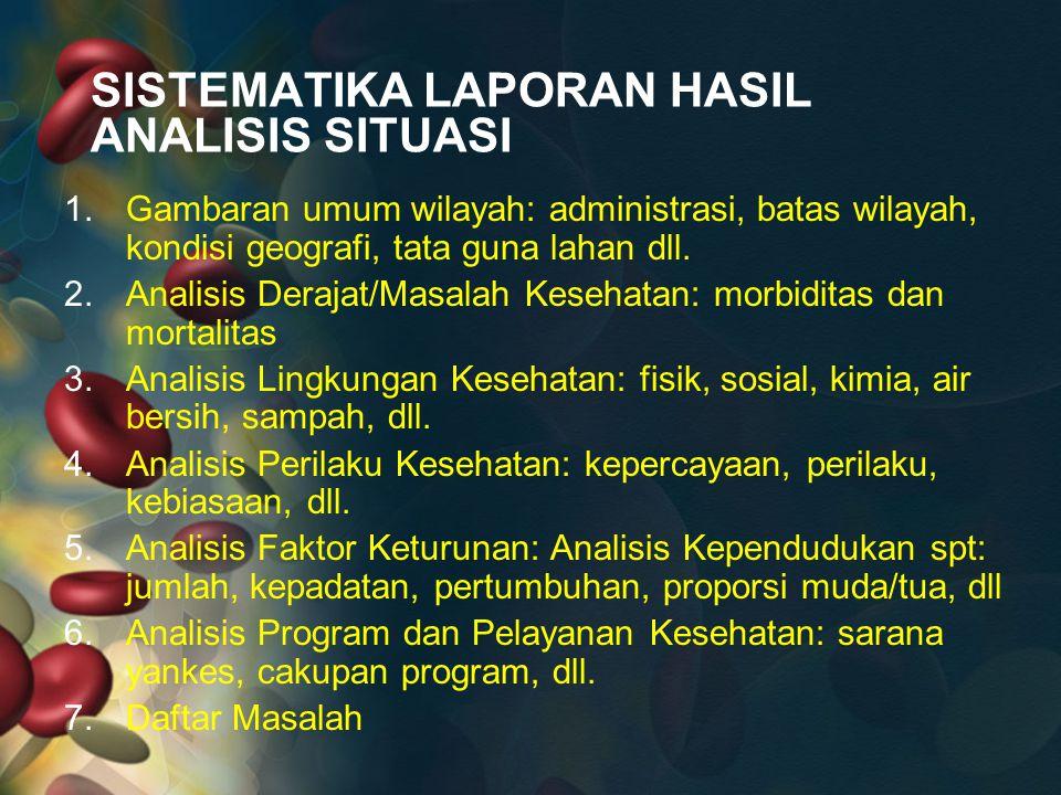 SISTEMATIKA LAPORAN HASIL ANALISIS SITUASI