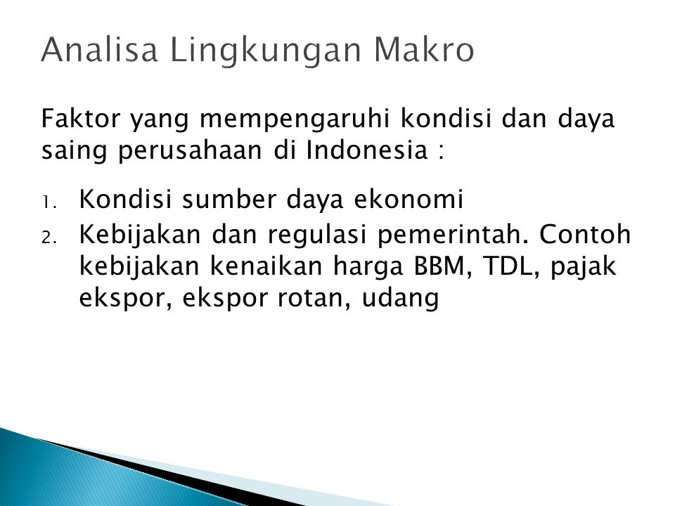 Analisa Lingkungan Makro