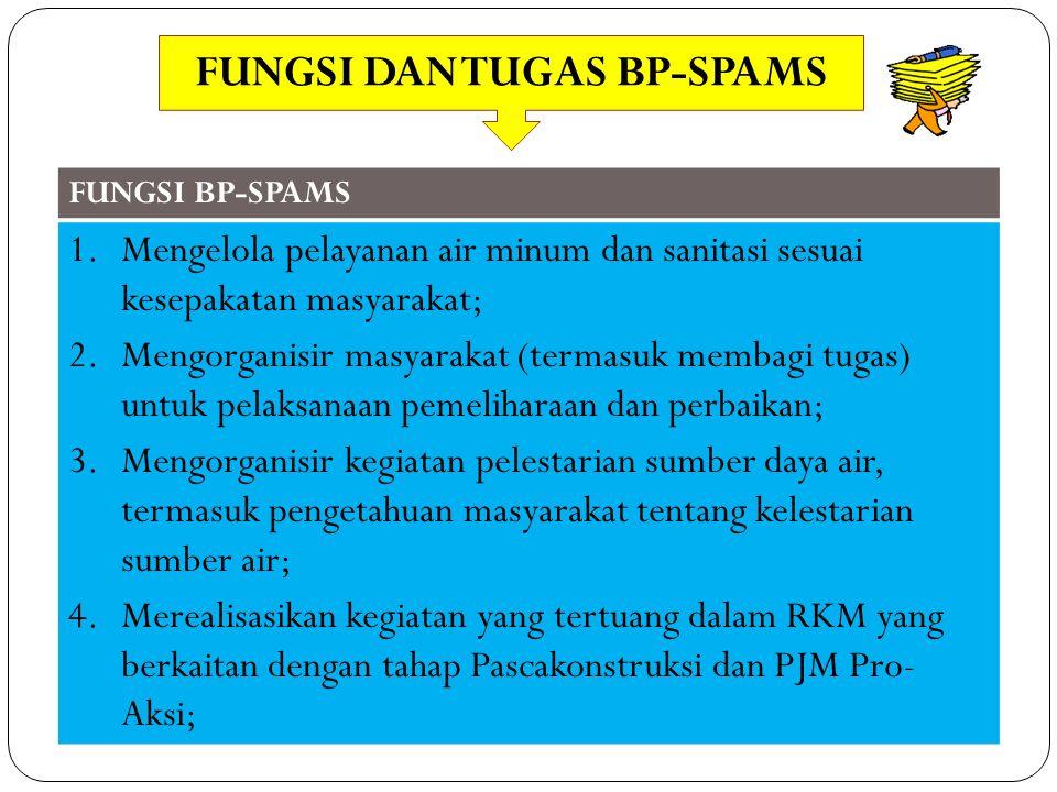 FUNGSI DAN TUGAS BP-SPAMS