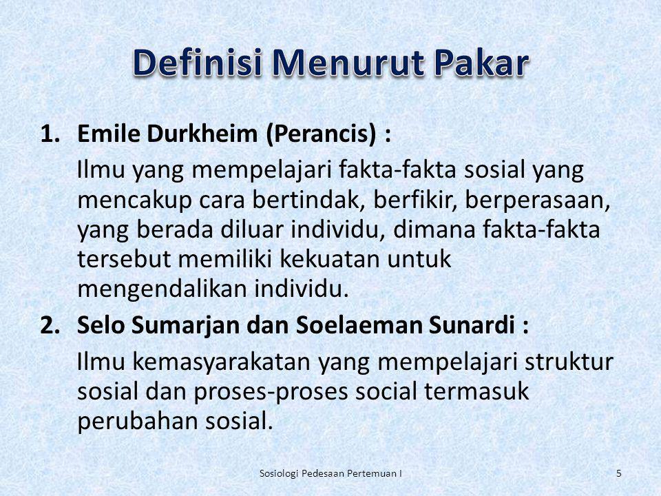 Definisi Menurut Pakar