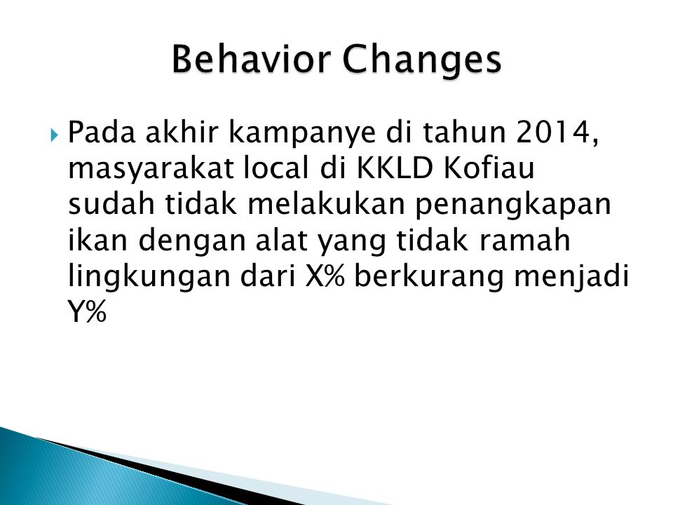 Behavior Changes