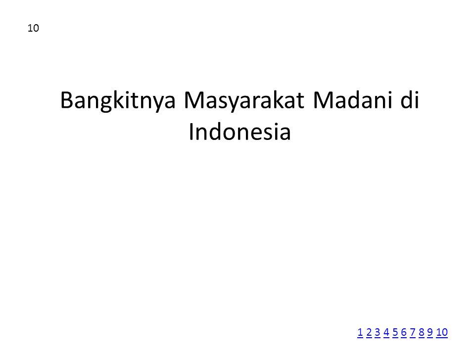 Bangkitnya Masyarakat Madani di Indonesia