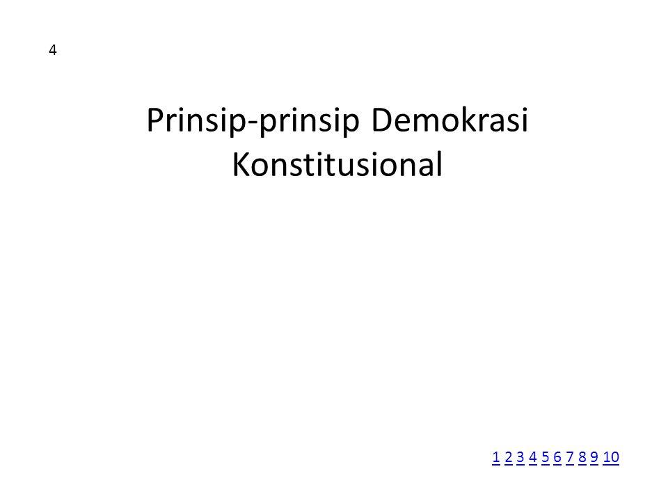 Prinsip-prinsip Demokrasi Konstitusional
