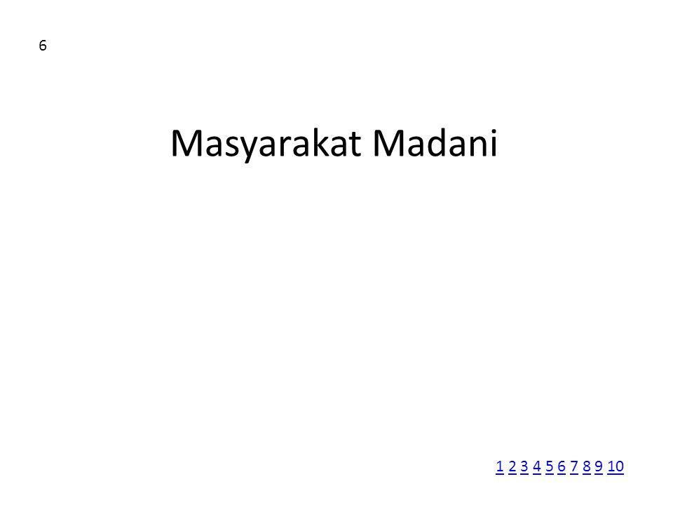 6 Masyarakat Madani 1 2 3 4 5 6 7 8 9 10