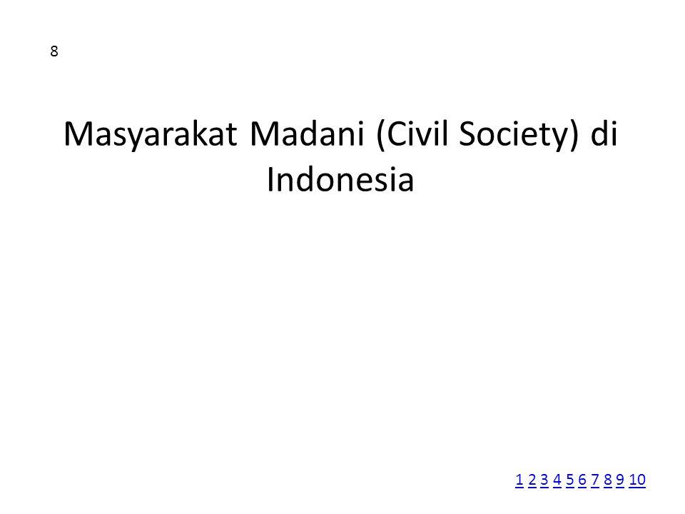 Masyarakat Madani (Civil Society) di Indonesia