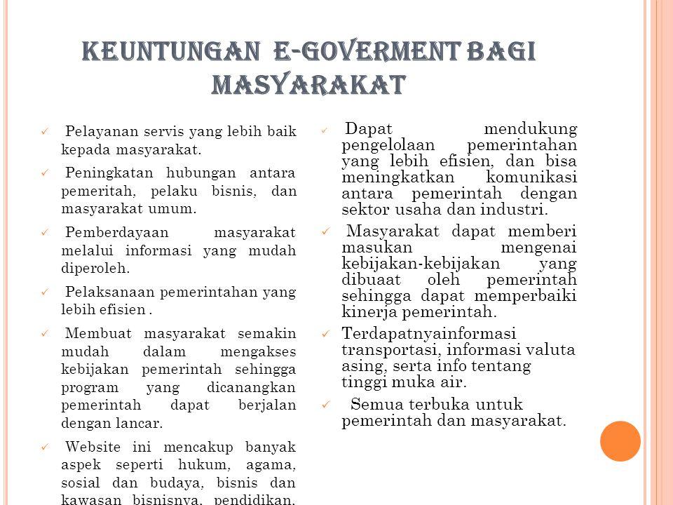 KEUNTUNGAN E-GOVERMENT BAGI MASYARAKAT