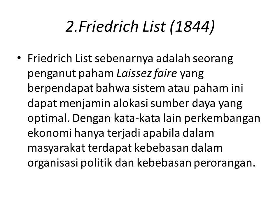 2.Friedrich List (1844)
