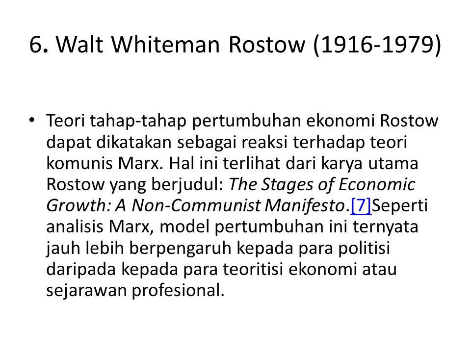 6. Walt Whiteman Rostow (1916-1979)