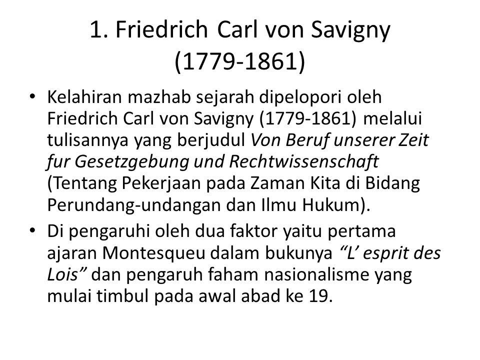 1. Friedrich Carl von Savigny (1779-1861)