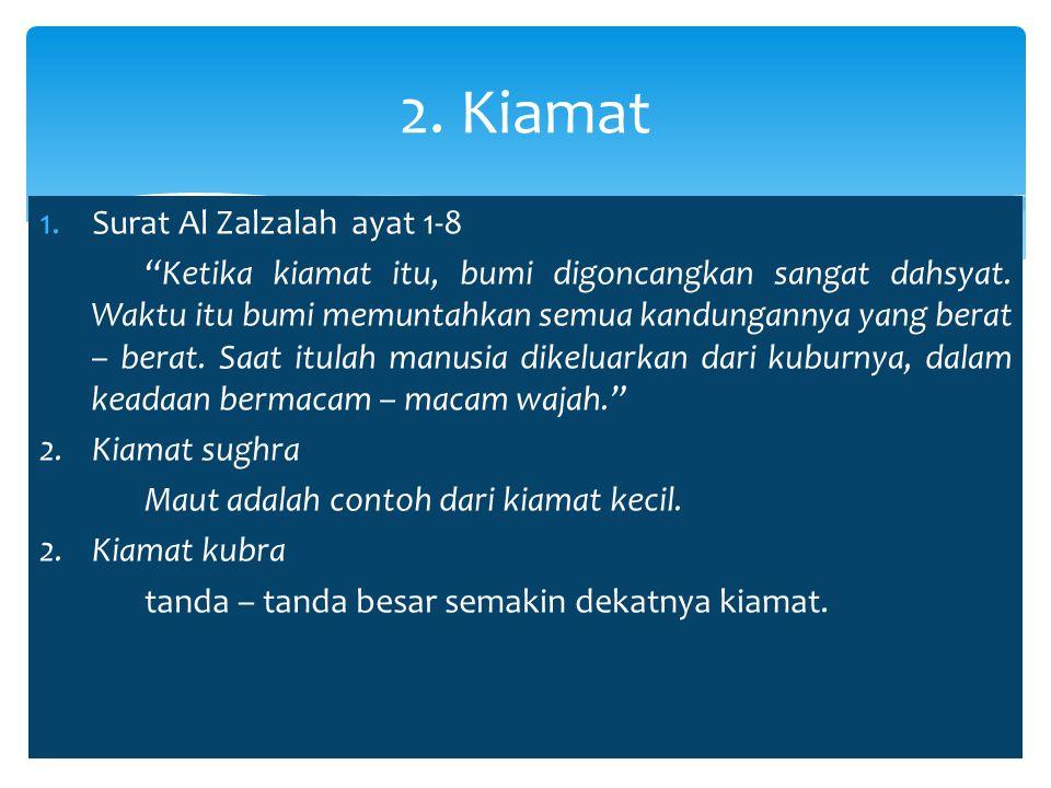 2. Kiamat Surat Al Zalzalah ayat 1-8