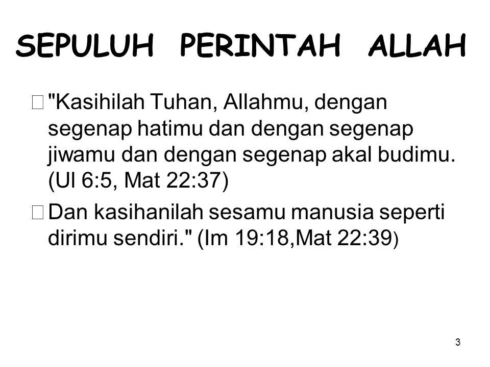 SEPULUH PERINTAH ALLAH
