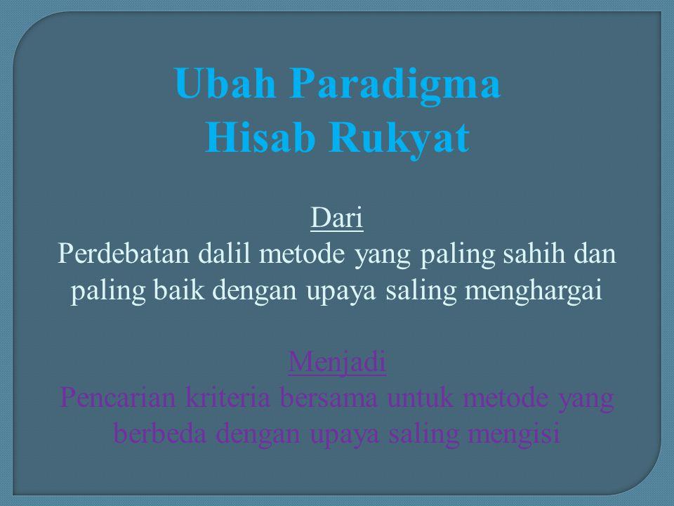 Ubah Paradigma Hisab Rukyat
