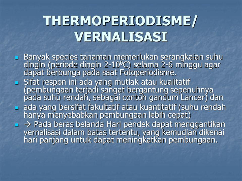 THERMOPERIODISME/ VERNALISASI