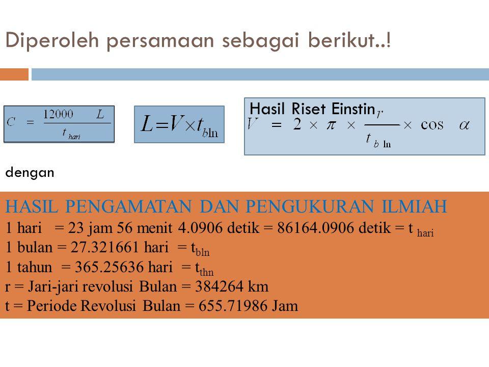 Diperoleh persamaan sebagai berikut..!