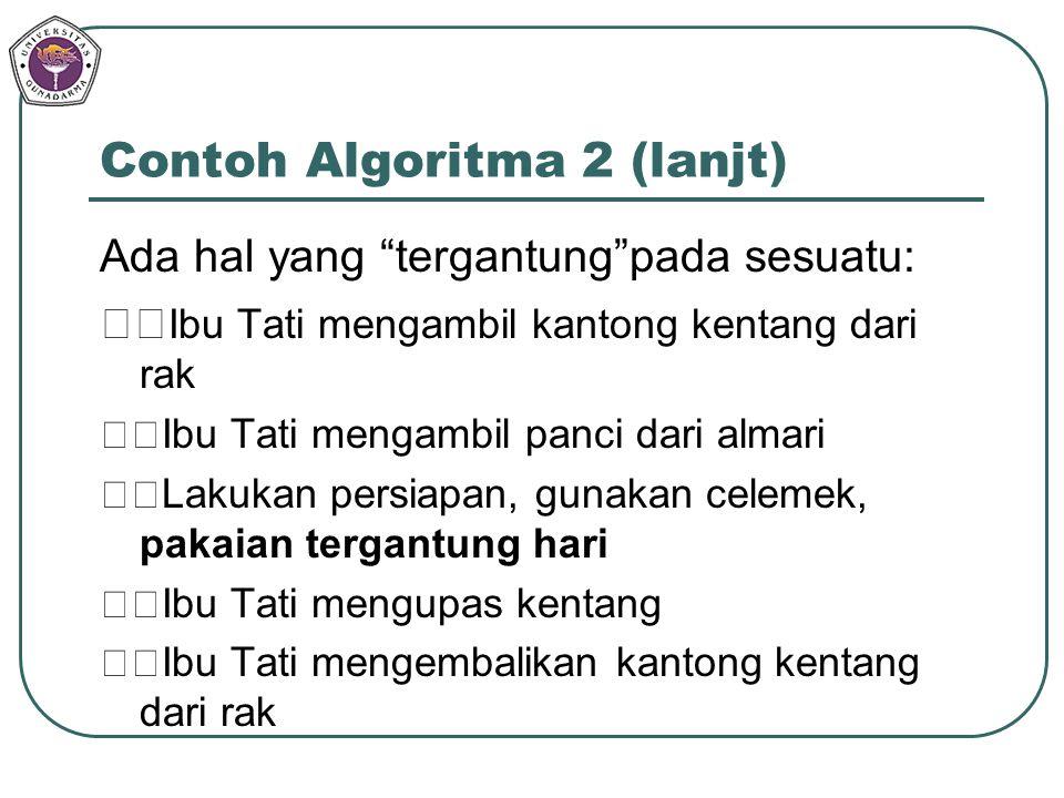 Contoh Algoritma 2 (lanjt)