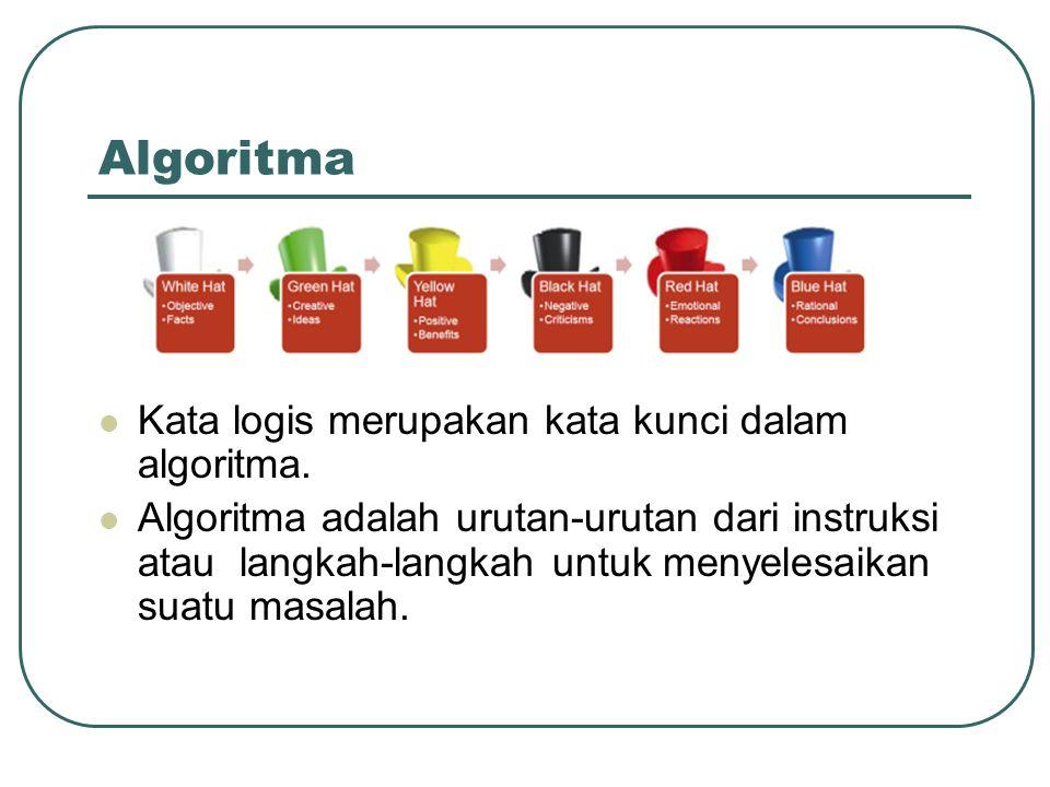 Algoritma Kata logis merupakan kata kunci dalam algoritma.