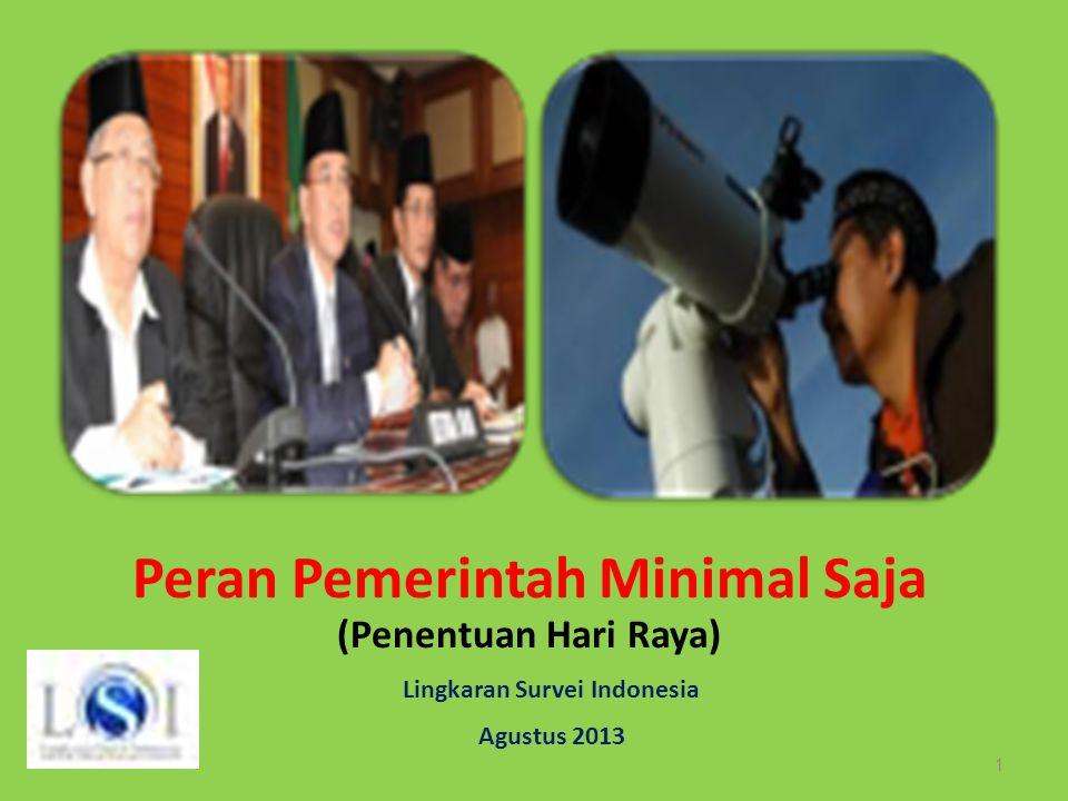 Peran Pemerintah Minimal Saja Lingkaran Survei Indonesia