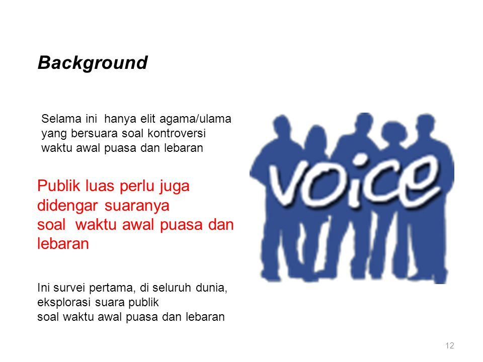 Background Publik luas perlu juga didengar suaranya