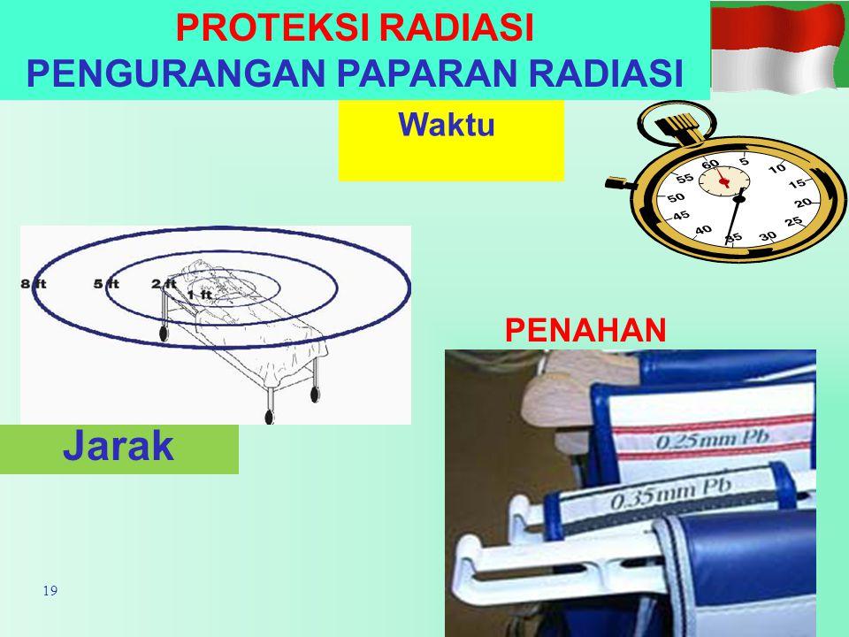 PROTEKSI RADIASI PENGURANGAN PAPARAN RADIASI