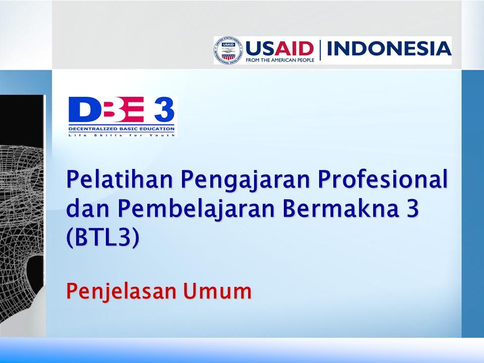 Pelatihan Pengajaran Profesional dan Pembelajaran Bermakna 3 (BTL3)