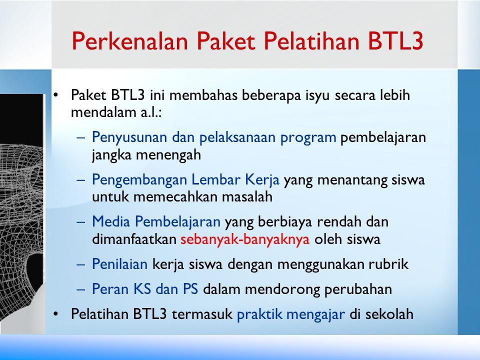 Perkenalan Paket Pelatihan BTL3